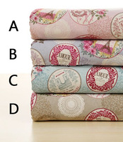 Free shipping Pure cotton Linen Fabric for home decoration /Handmade DIY Multicolor 20*20cm 5pcs 026029012