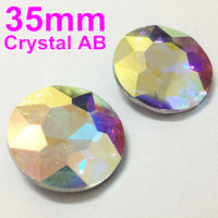 35mm 27Pcs/Lot Crystal AB Color Baoshihua Round Crystal Fancy Stone