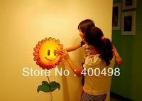 Free shipping Sample Creative 3D Wallpaper Sunflower Wall departure DIY creative night light lamp wall lamp bedroom lamp bedside