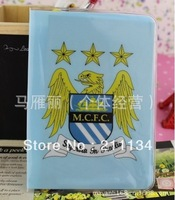 Free Shipping!! 20 Pcs / Lot New Manchester City Football Team Credit Card Bag Card Holder Passport Holder