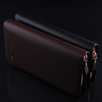 Free shipping! High quality Men's Fashion vintage genuine leather long wallet male wallets with handles   man purse