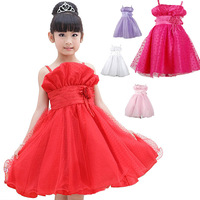 hot sale little flower chiffon lace princess party dress lovely beautiful candy color A-line dress #KS0084