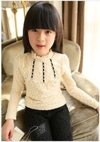 Free Shipping 18m-6y Nova 2013 new fashion baby girls cotton dress beautiful princess dress with lovely print and lace