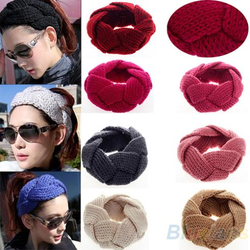 Fashion 1Pc New Crochet Twist Knitted Headwrap Headband Winter Warmer Hair Band for Women Accessories(China (Mainland))