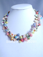FASHION ROMANTIC FRESHWATER PEARL NECKLACE Perles collier MN#4531