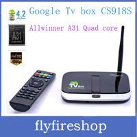CS918S Quad Core Allwinner A31 1GB/8GB Android 4.2 TV Box Built in 2.0MP Camera Mic Bluetooth RJ45 4k player xbmc