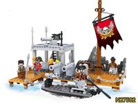 Ausini Pirate Series Pirate Ship Building Blocks Construction Sets Educational Bricks Toys for Children Compatible Blocks