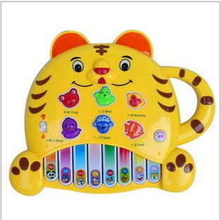 Tiger Music Keyboard Baby's Toy Musical Instrument Child Music Learning Toys Educational Machine High quality WX273(China (Mainland))