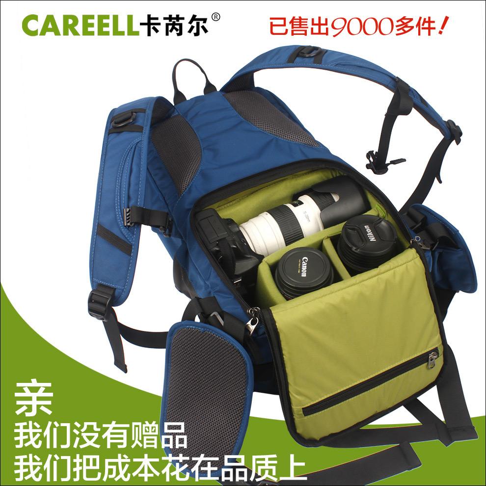 Card anti-theft professional digital slr casual double-shoulder camera bag camera bag slr bag photography backpack 3011(China (Mainland))