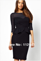 New Fashion Slim sexy ladies flounced skirt women casual dress Party Bodycon Dresses