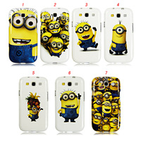Hot Item TPU Case for SAMSUNG Galaxy s3 i9300 Despicable Me Lovely yellow minion Back Defender , 100pcs/lot,