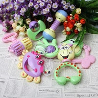 Interesting 7pcs/set Baby Infant Educational Rotation Rattles Bell Toy Gift Toy