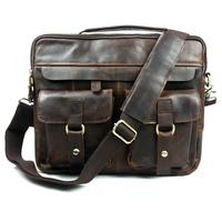 Pop fashion elegant genuine leather mens handbags ,wholesale messenger bags B207