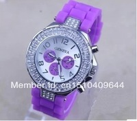 Relogio Drop Shipping Whosesale New 2013 Unisex Silicone Band Jelly Color Fashion Quartz Watch Men/Women  Watches