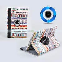 360 Degree Rotating Tribal pattern Smart  Cover  With Stand Luxury leather  Case For  ipad mini