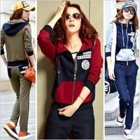 free shipping  Women sports set slim casual set women's sweatshirt 2360