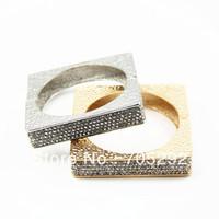 Fashion Square Zinc Alloy Bangle with Full Crystal Rhinestone Free Shipping