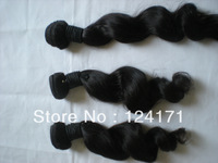 unprocessed brazilian virgin hair extensions 100% unprocessed human loose wave natural color on sell