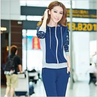 free shipping  casual set spring and autumn plus size sweatshirt sportswear autumn 9211