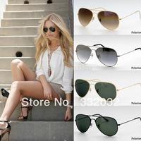 Free Shipping 2014 New Gradient color Polarized Sunglasses Classic Man Woman Sunglasses Fashion Glasses