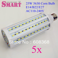 6pcs+free shipping 30W E27 Corn Bulb Super Bright SMD 5630 LED Lamp AC110V/220V/230V 7W/8W/10W/11W/15W/16W/18W/30W/35W