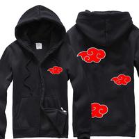 Naruto hoodie Zipper-up fleece thickening sweatshirt outerwear
