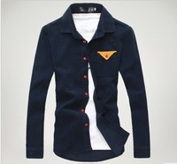Male slim long-sleeve shirt corduroy long-sleeve shirt men long sleeve shirts no.193203