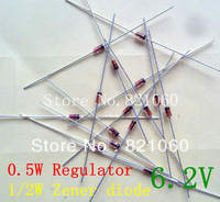 1/2W regulator 6.2V 0.5W Zener diode 20pcs/lot