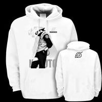 Naruto hoodie Flag wood kakashi with a hood pullover sweatshirt  thickening fleece outerwear
