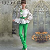 Lovable Secret - Autumn women's casual pants 2013 green gold skinny low-waist pants  free shipping