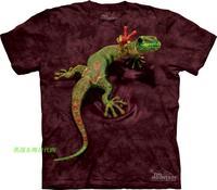 Free shipping men and women  3D t shirt made in USA The*mountain 3d lizard creepiness pattern  summer short-sleeve T-shirt