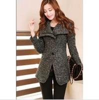 2013 new autumn and winter woolen coat slim long sections woolen coat female