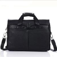 Commercial 2013 cowhide handbag quality laptop bag Briefcases genuine leather man bag male bag 90302-4