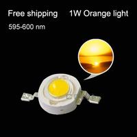 Free shipping LED emitting diode orange light led diodes 1w led orange beads lamp 595-600nm plant growth light fishing light
