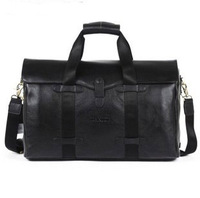 Cowhide large fashion capacity handbag shoulder bag genuine leather man bag commercial travel bags 2013