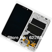 For Motorola Droid Ultra XT1080 MAXX 1080M LCD Screen Digitizer Touch + White Frame Free shipping + LCD protective film