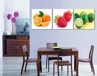 3 Panel  Hot Sell Modern Wall Painting Home Decorative Art Picture Paint on Canvas Prints Fresh fruit 5