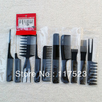 Free Shipping Professional make up 10 times a comb comb hair combs the hairdresser special anti-static black comb
