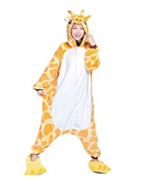 Hot Kigurumi Pajamas Adult Anime Cosplay Halloween Costume Outfit_Giraffe