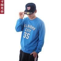 FREE SHIPPING Card 35 durant basketball cotton belt long-sleeve T-shirt male small sports sweatshirt  Justin bieber