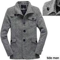 winter jackets men 2014 Outdoor jacket pocket Stand Collar Trenchcoat men Coat men for winter 2014