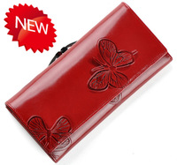 Fashion Beautiful Butterfly Pattern  Genuine Leather Wallet  Women's Wallet  Luxury Designer  Purse Free Shipping  VC88