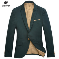 THOOO  men's clothing wool suit commercial male turn-down collar slim suit jacket male 2487