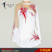 adult skating skirt white color beatiful costume competiotion skating skirt  good gift for adult