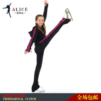 ice skating for kid  black color hot sell training  skating wear kids gift ice skates dresses free shipping
