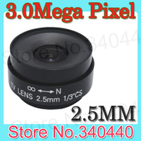 Wide angle of view Fixed 2.5mm Focus Length IR Mega Pixel CCTV Security Camera Lens