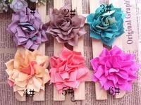Trial order summer  Flowers Kanzashi Fabric Flowers 200PCS/LOT By AngelBaby headwear