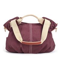 Women's Canvas Handbag Tote Shoulder Bag 6 Candy Colors Messenger Bag Free Shipping BFK010802