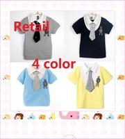 2014 Retail Color Freeshipping Regular Print Active Boys Hot Children Gentleman T Shirt Factory Price Promotion Clothing Brand