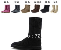 2014 XMAS High-quality 1pairs new Women Classic crochet Cardy snow boots Winter boot boots with box